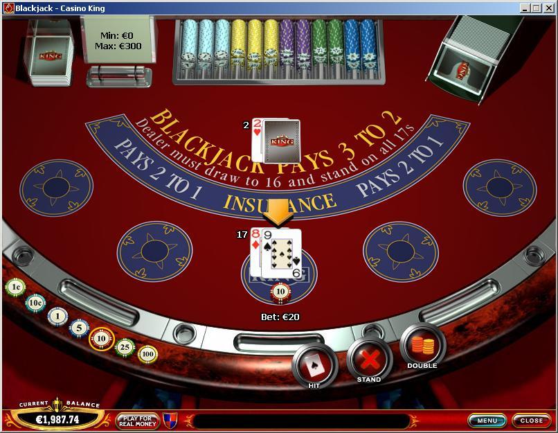 blackjack online casino king casino